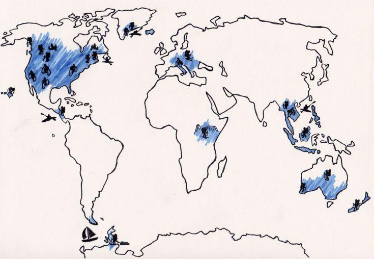 Carte monde dessinée