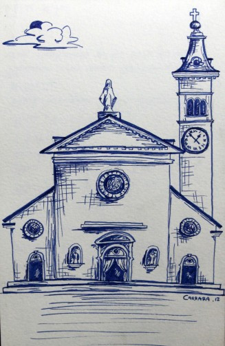 dessin église italie