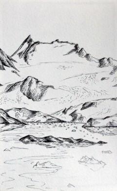 dessin glacier kulusuk