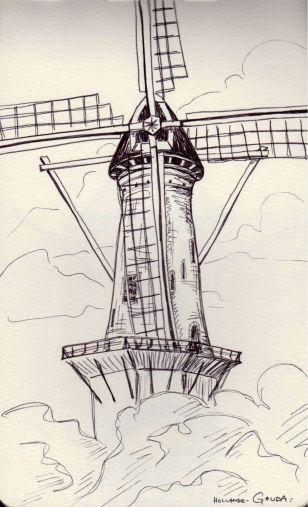 moulin dessin