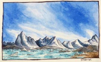 Tasilaq Fjord.