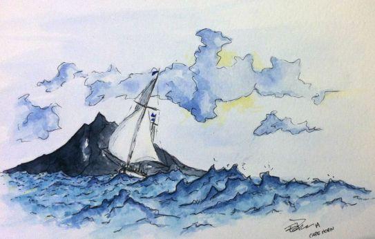 voilier au Cape Horn