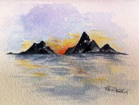montagne soleil